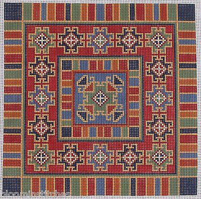 CanvasWorks-PO23A-Turkoman-2-Insert-Hand-Painted-Needlepoint-Canvas