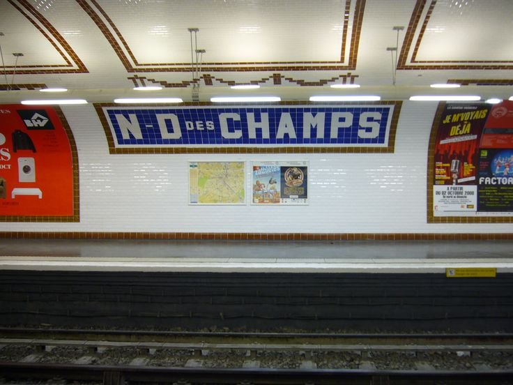 notre dame des champs station line nord sud my home metro stop - Faience Metro