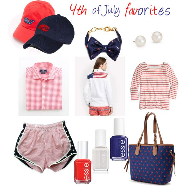 4th of July favorites by scnrousch on Polyvore featuring polyvore fashion style J.Crew Croft & Barrow Blue Nile Brooks Brothers Essie