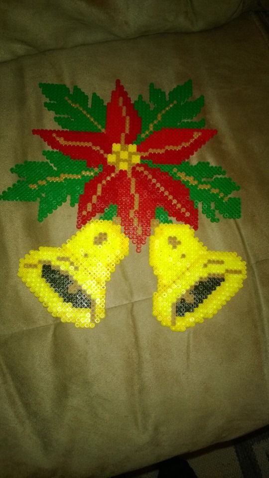 Christmas ornament hama beads by Marianne Korsgaard
