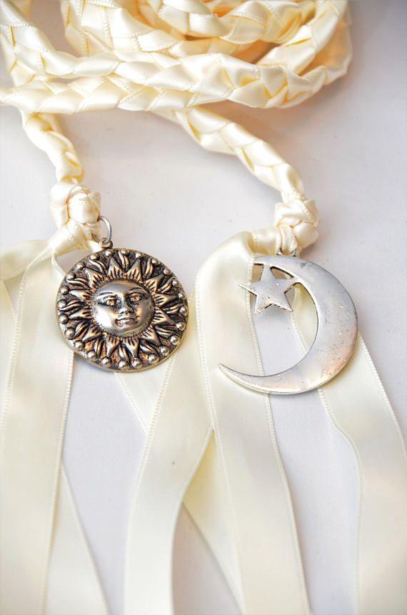 Sun & Moon Wedding Hand Fasting/ Binding Cord Handfasting