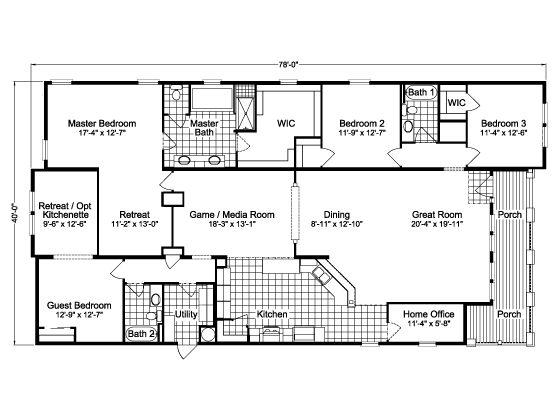 La belle 766s house plans pinterest chang 39 e 3 home for Mobile home designs