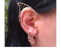 Elfo orecchie degli Elfi orecchio polsini Halloween orecchino Cooper gioielli unici Ear Cuff Non forato
