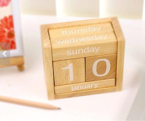 Regalos de navidad originales #Calendario #madera