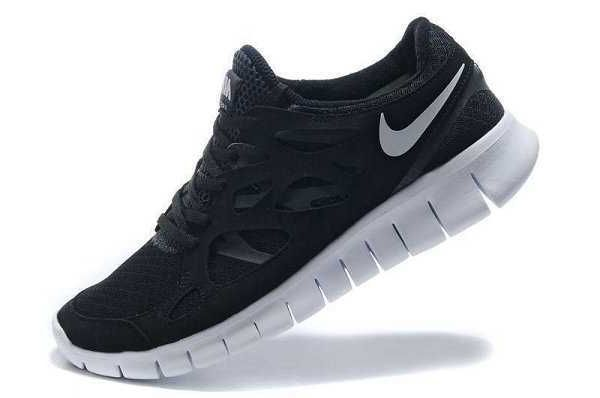 Nike Free Run 2 Womens Black Gray Shoes