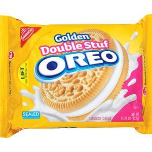 Nabisco Oreo Double Stuf Golden Sandwich Cookies, 15.25 oz