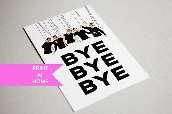Nsync Bye Bye Bye Funny Digital Printable Card Farewell Cards Cards Printable Cards