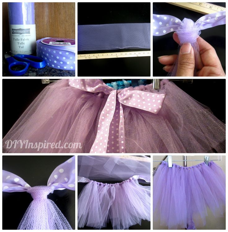 DIY No Sew Tutu Collage