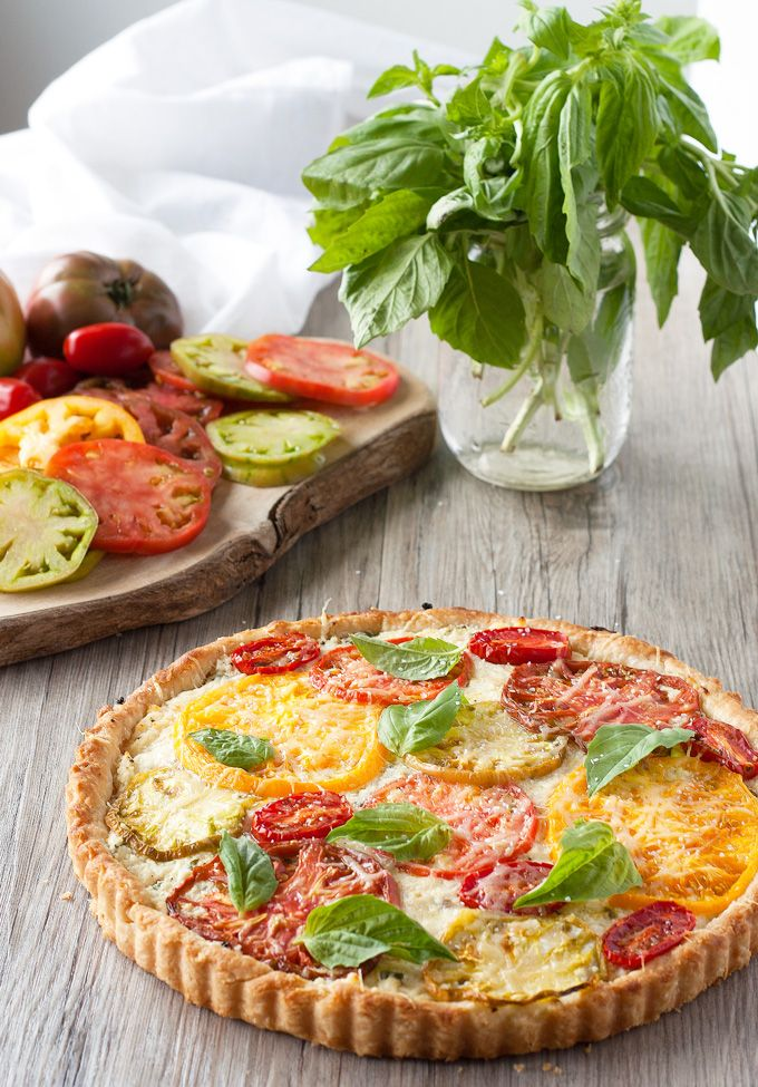 Heirloom Tomato And Mozzarella Tart Recipe — Dishmaps
