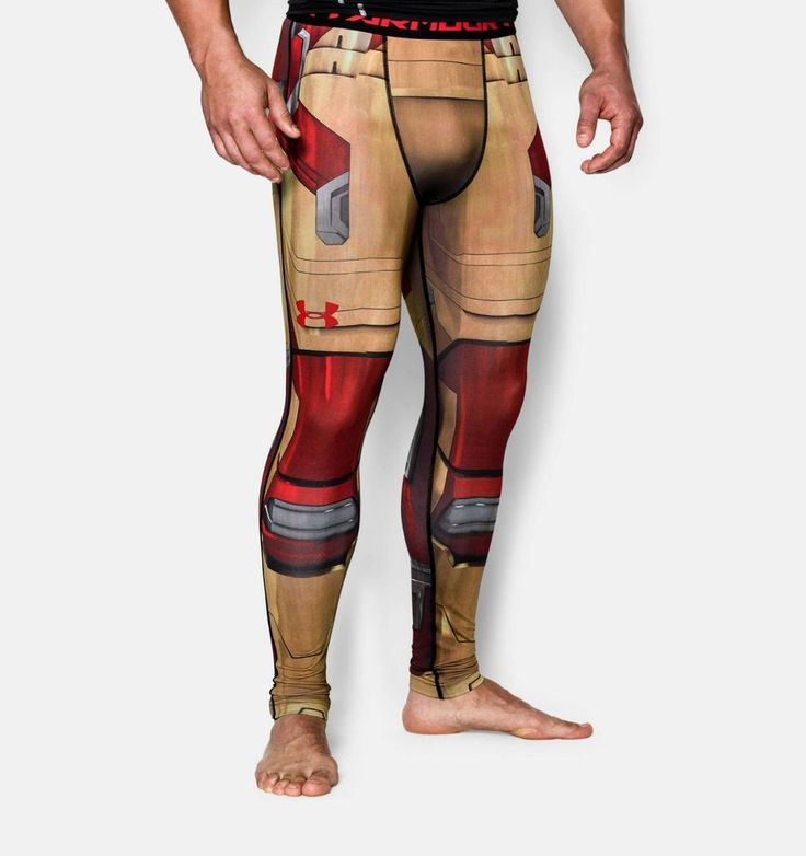 Under Armour Alter Ego Marvel IRON MAN Compression Leggings, Size XL #UnderArmour #BaseLayers