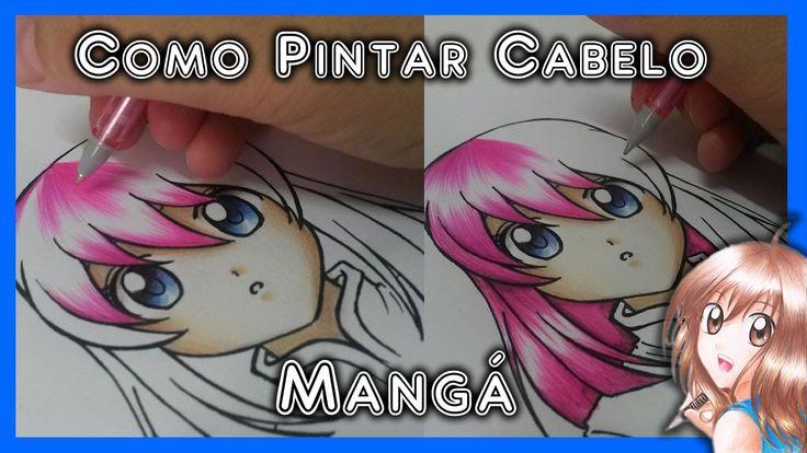 Como Desenhar Mangá - Pintura de Cabelo (lápis de cor)