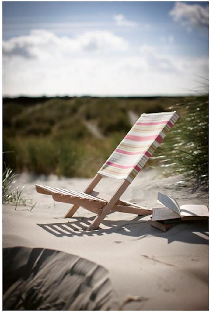 folding wood beach chair