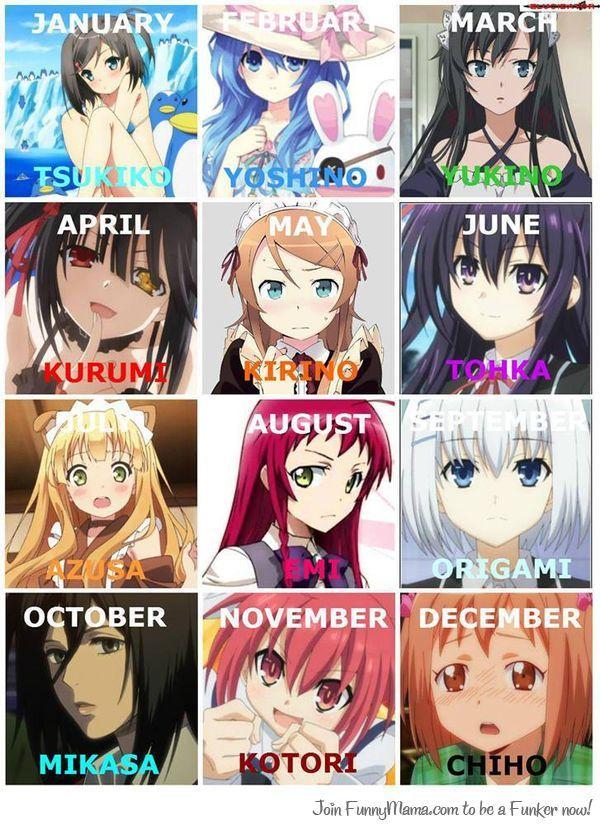 Avec laquelle d'entre elles sortirait vous selon votre mois...??? Mais moi sur ce coup je joue pas...