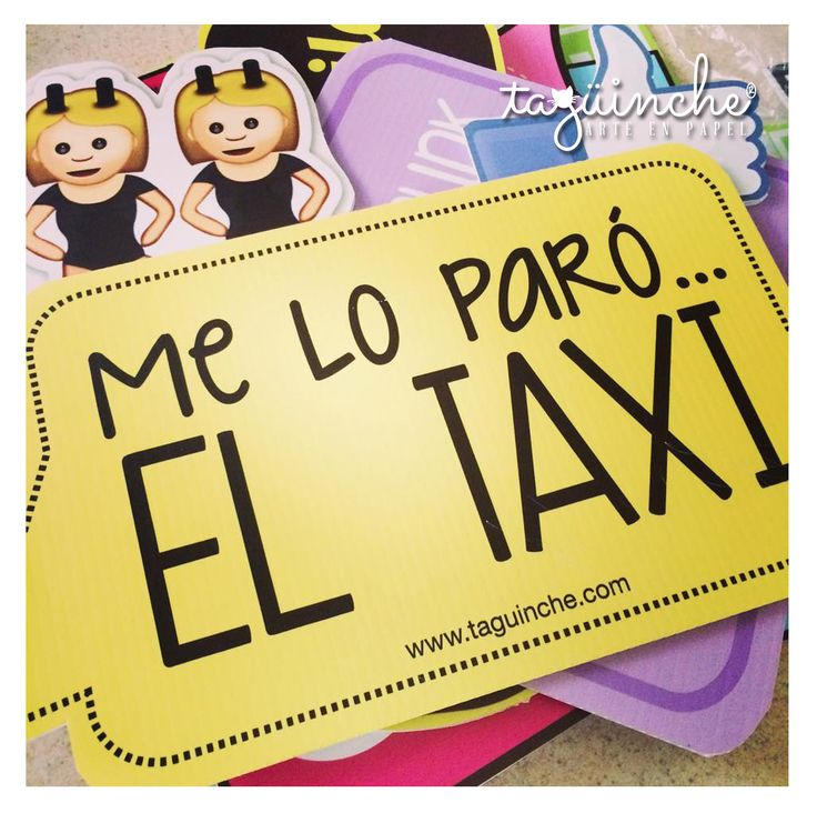 Letreros boda #ElTaxi www.taguinche.com