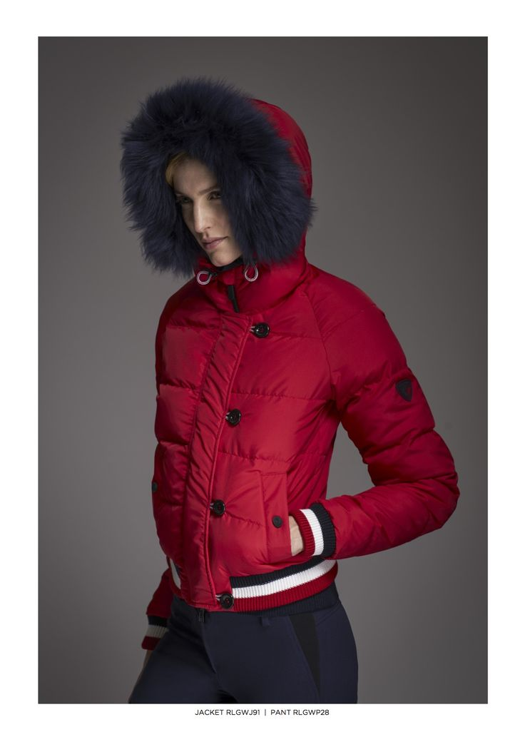 Rossignol 2017- 2018 - Red Ski Jacket with Fur Hood