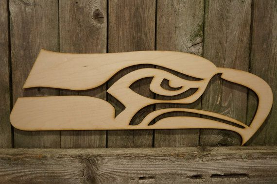 Seattle Seahawks logo bois coupé signe de par ArrayOfDelight