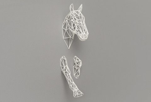 Fresh modern looking sculpture made by 3D printing! Combines a look of nature with a modern complex 3D sculpture.