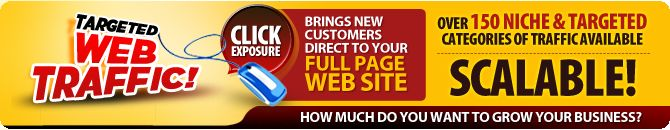 Online businesses MUST have visitors and traffic to visit their websites in order to generate online sales. The more targeted and timely that traffic is the higher the probability of making a sale to those visitors. With our service we send you the best targeted website visitors that your business can use to succeed online. Get GUARANTEED Targeted Web Traffic - we make it affordable and co