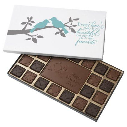 Every Love Story is Beautiful typography 45 Piece Box Of Chocolates - typography gifts unique custom diy
