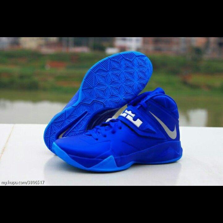 Outlet Nike Zoom Soldier VI 6 White Black Game Royal Lebron Sold