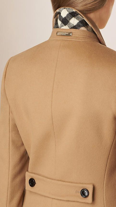 Camel Tailored Wool Cashmere Coat - Image 6