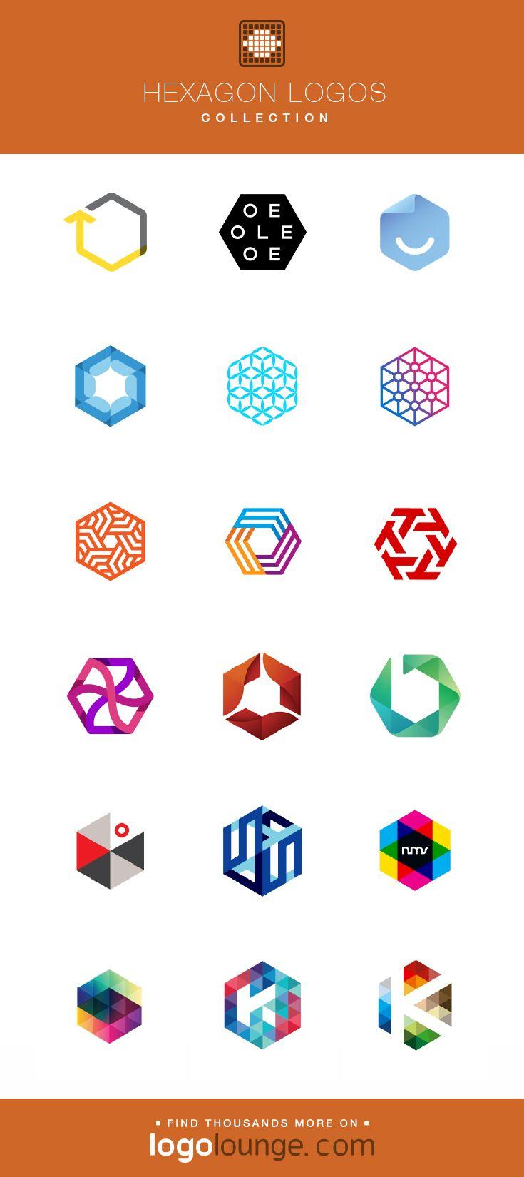 Logo Collections Hexagon Vector Logo Designs Linear Triangle Slices Shapes Overlapping Colors Hexagon Logo Geometric Logo Design Photography Logo Design