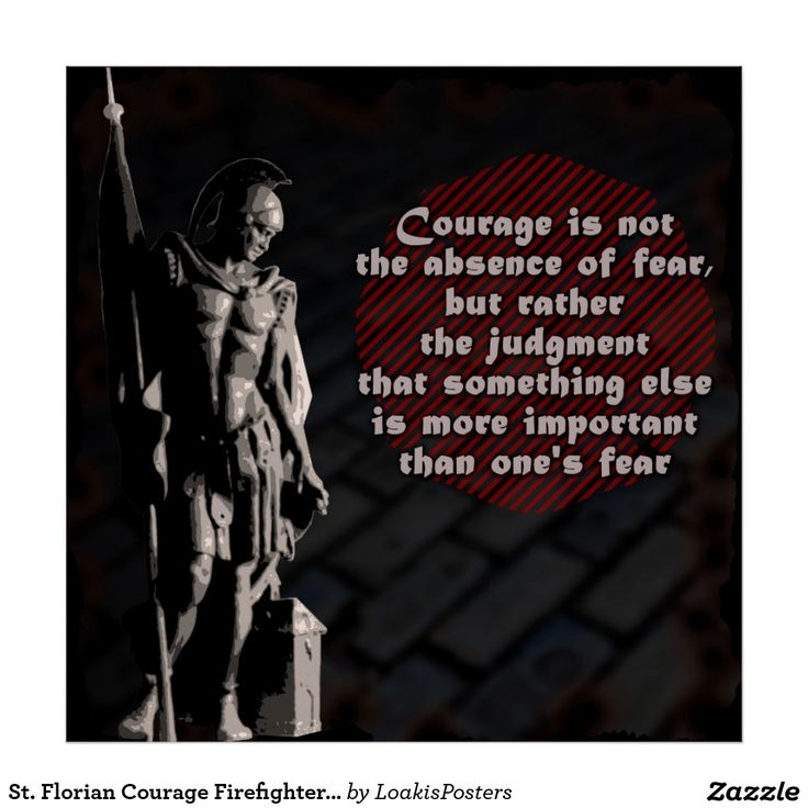 St. Florian Courage Firefighter Poster