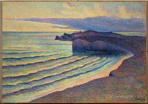 Seashore in Normandy, 1893. By Maximilien Luce (1858-1941)