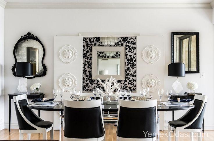 Siyah Beyaz Yemek Odaları Yemek odalarınızda farklı renkleri birleştirmek istiyorsanız siyah, beyaz ve biraz da kırmızı katarak hoş bir kombinasyon oluşturabilirsiniz. Siyah ve beyazla kontrastı yakalarken kırmızı ile de yemek odalarınıza renklendireceğiz. Kırmızıya daha çok sandalyelerde yer verdiğimiz siyah beyaz yemek ... http://www.yemekodasi.com/siyah-beyaz-yemek-odalari/