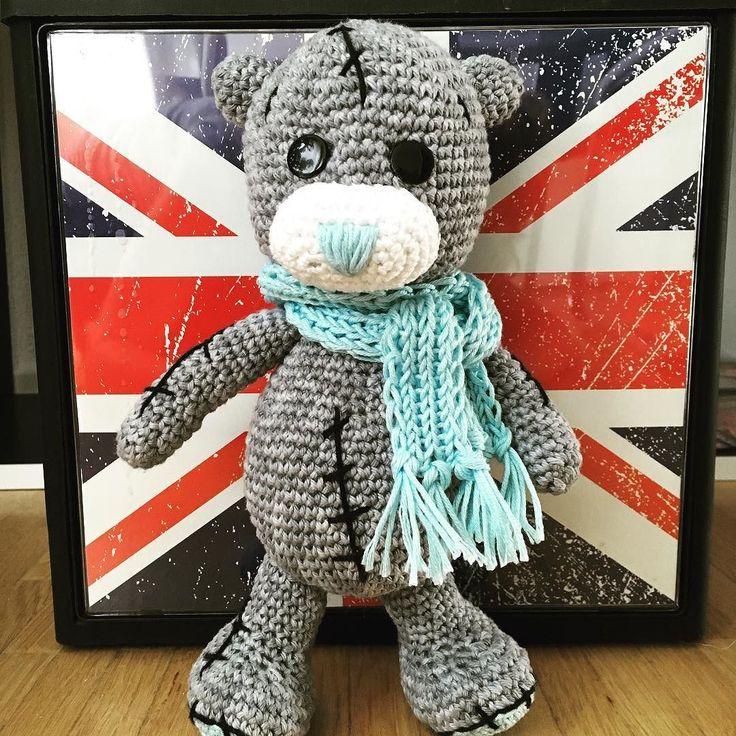 И ещё такой вот сладкий медвежонок. Прощу прощения у друзей за вязанный спам  В ближайшие дни  больше не будет никаких игрушек только фото с отпуска  #амигуруми #weamiguru  #amigurumi #teddybear #crochet #teddy #крючком #мишка #тедди by elena_sem