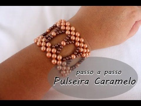 NM Bijoux - Pulseira Caramelo - passo a passo