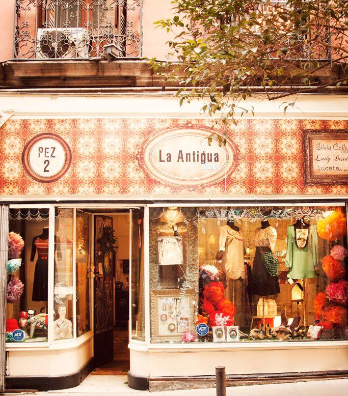 un tienda preciosa en la calle Pez de Madrid