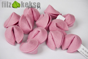 Pink fortune cookies