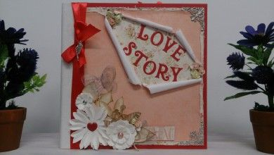ÁLBUM DE SCRAPBOOKING LOVE STORY