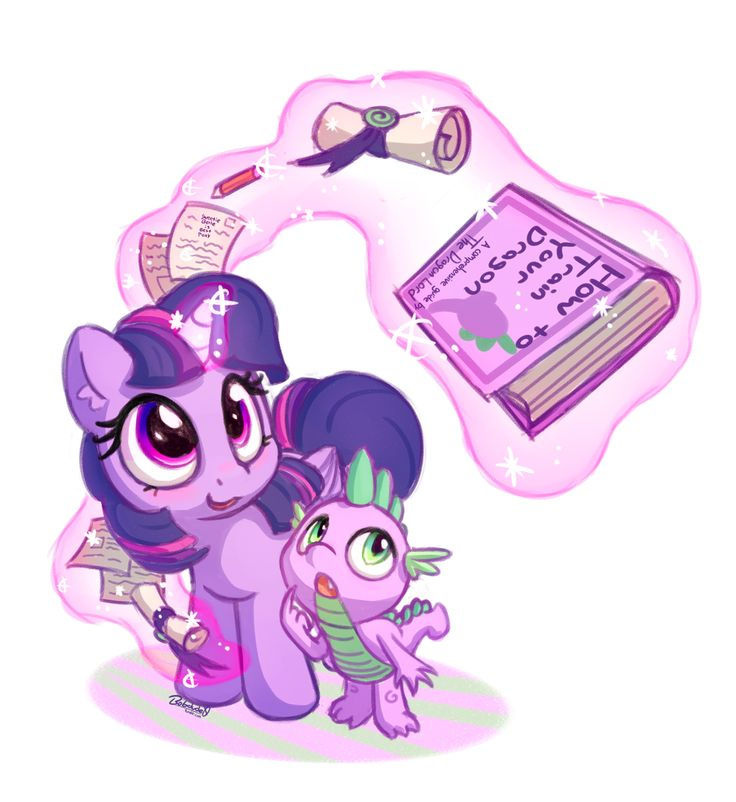 #1333412 - alicorn, artist:bobdude0, book, cute, duo, fangs, glowing horn, looking up, magic, open mouth, paper, pencil, pony, safe, scroll, smiling, spikabetes, spike, telekinesis, twiabetes, twilight sparkle, twilight sparkle (alicorn) - Derpibooru - My Little Pony: Friendship is Magic Imageboard