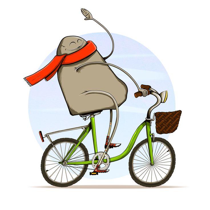 MountainBike... Sí, una montaña subida en una bici.Pese al juego de palabras tonto, la cosa tiene algo de fondo. Resulta que un día estaba bajo de ideas, así que mi chica me dijo que soltara al aire 3 palabras y que con ellas me montase una ilustración. Las palabras fueron montaña, bicicleta y bufanda.  Os recomiendo que hagáis este ejercicio de vez en cuando. Puede ayudaros si vuestra creatividad se va de vacaciones ;) #illustration #mountain #bici #bicicleta  #ilustracion #colour…