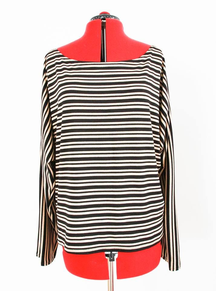 Striped t-shirt stretch jersey
