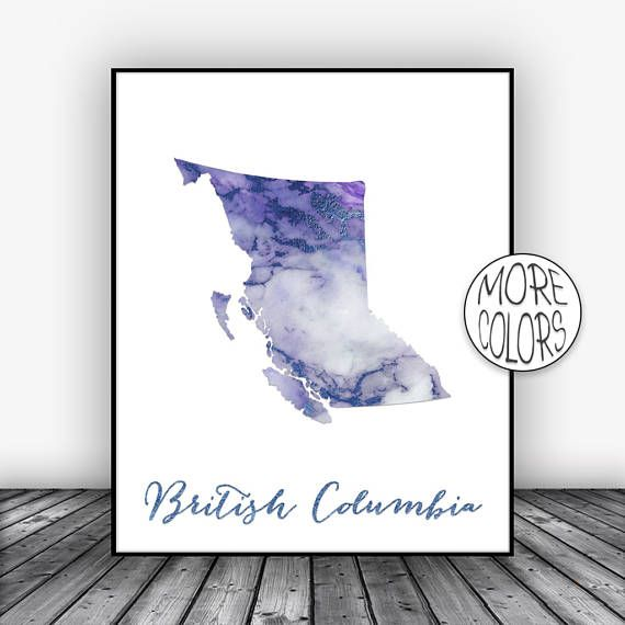 British Columbia Print, Office Art Print, Watercolor Print, Map Art, Map Artwork, Office Decor, Country Map, ArtPrintsZoe #ArtPrint #OfficeArtPrint #BritishColumbia #OfficeArt #MapArt #ArtPrintsZoe #CountryMap #WatercolorPrint #MapArtwork #OfficeDecor