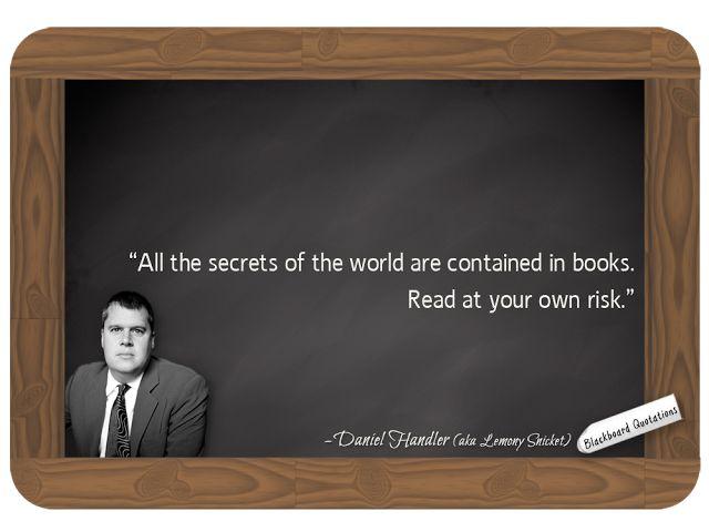 Daniel Handler (aka Lemony Snicket)... on Reading