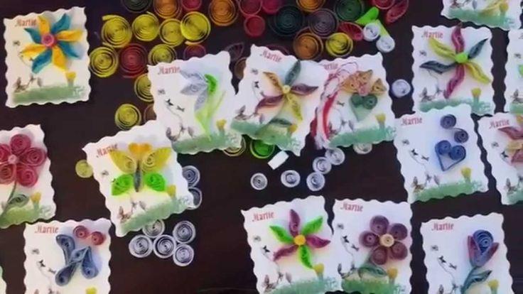Martisoare handmade din hartie - tehnica quilling