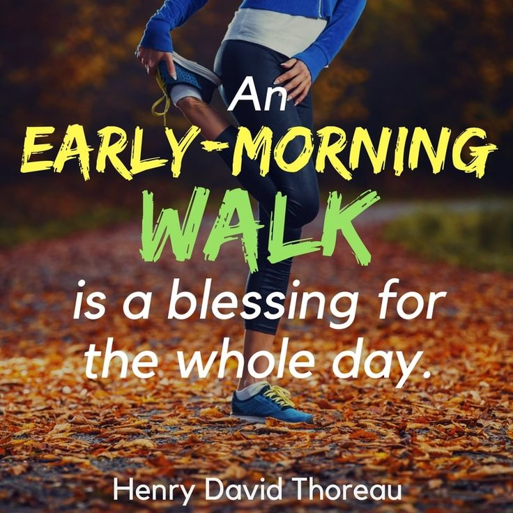 Quotes on walking & exercise-- An early-morning walk is a blessing for the whole day. - Henry David Thoreau-- walking quotes --find out the answers to important walking questions