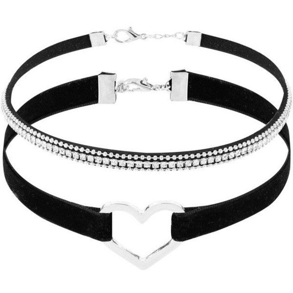 Black Velvet Heart Choker Necklace (58 BRL) ❤ liked on Polyvore featuring jewelry, necklaces, heart jewellery, choker necklaces, velvet necklace, heart choker and heart-shaped jewelry