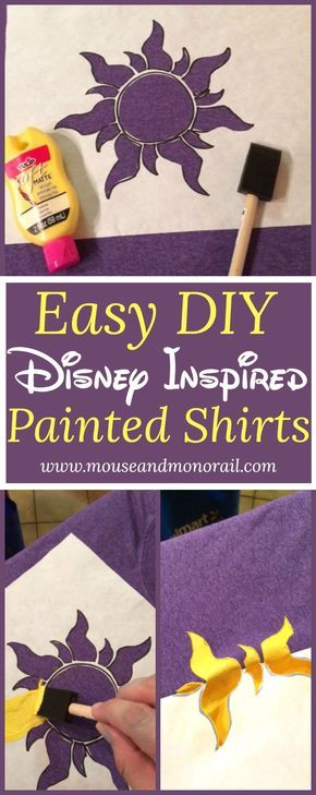 Make your own shirts for your next Disney vacation! Our tutorial is so easy, you'll be making your own shirts in no time. Follow these simple steps for an easy DIY painted Disney shirt.