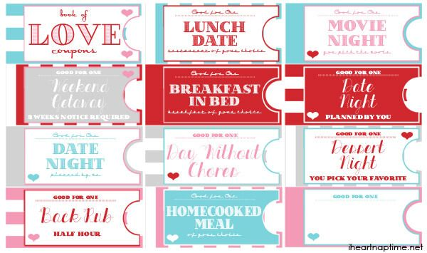 Printable Love Coupon Book The Perfect Valentine S Day Gift Love Coupons For Him Coupon Book Love Coupons