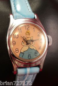 1950s U.S. Time Cinderella Watch. I loved my watch like this! It was packaged in a plastic slipper reminiscent of Cinderella's glass slipper.