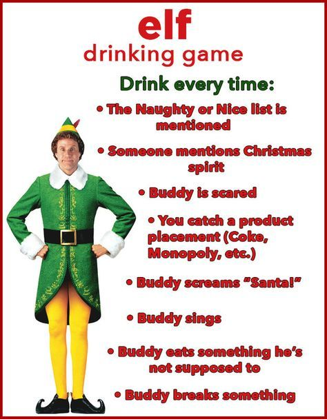 """""""Buddy the Elf, what's your favorite drink?""""   10 Christmas Movie Drinking Games You'll Want To Play This Year"""