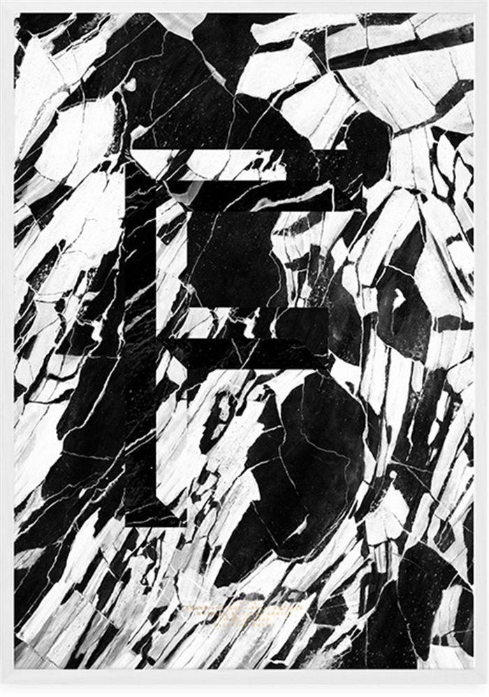 Plakat F marmor 70x100 - 350kr