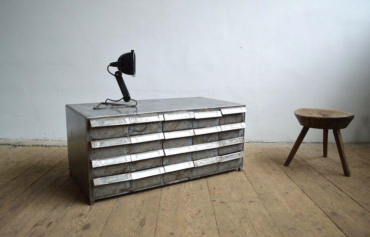 Steel metal cabinet with drawers (artKRAFT Industrial design)