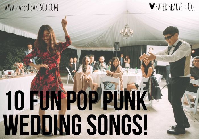 #PopPunk Wedding Playlist. I bet a few of these would show up on some Marlowe wedding lists!