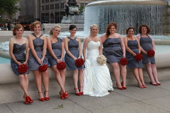 Instead Of The Red Heels I Want Converse Would Be A Perfect Idea For Wedding